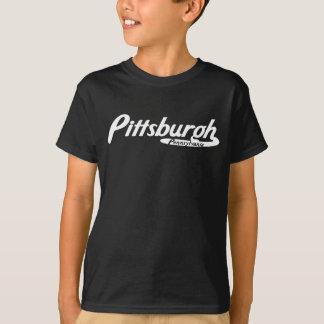 Logotipo del vintage de Pittsburgh Pennsylvania Playera