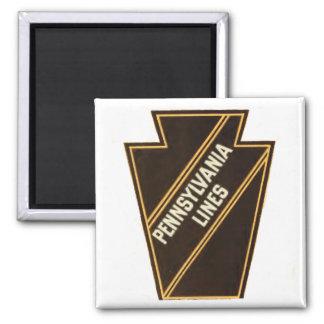 Logotipo del vintage del ferrocarril de Pennsylvan Iman Para Frigorífico