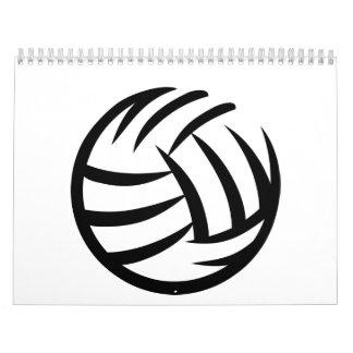 Logotipo del voleibol calendario de pared