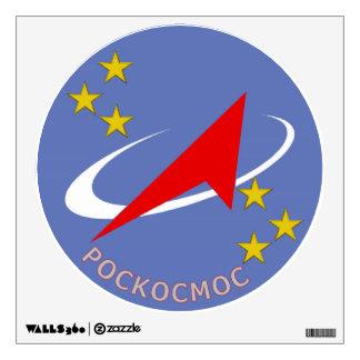 Logotipo del vuelo de Roscosmos redondo Vinilo Adhesivo
