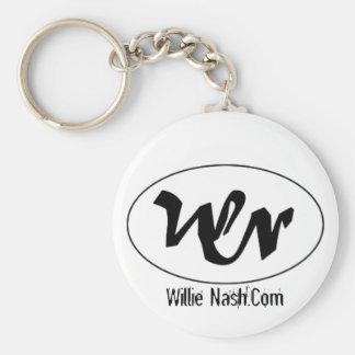 logotipo del wn, Willie Nash.Com Llavero Redondo Tipo Pin