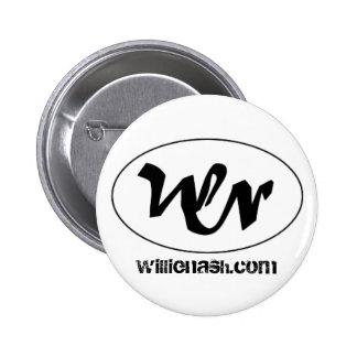 logotipo del wn, willienash.com pin redondo de 2 pulgadas