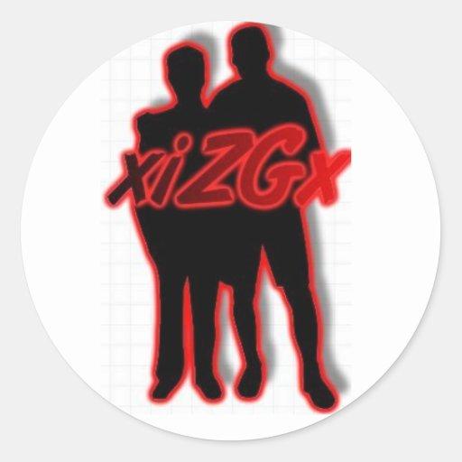 logotipo del xiLGx Pegatina Redonda