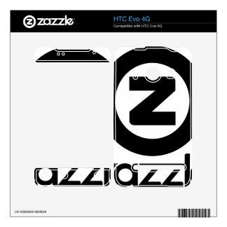 logotipo del zazzle apilado calcomanías para el HTC evo 4G