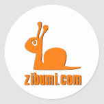 logotipo del zibumi etiqueta redonda