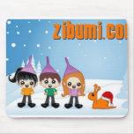 logotipo del zibumi tapete de raton