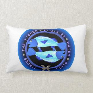 logotipo del zodiaco de Piscis del valxart Almohada