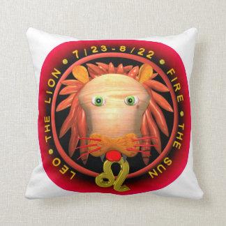 Logotipo del zodiaco de Valxart Leo Cojin