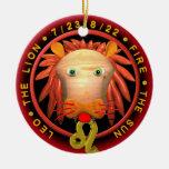 Logotipo del zodiaco de Valxart Leo Ornamento De Reyes Magos