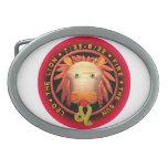 Logotipo del zodiaco de Valxart Leo Hebillas De Cinturon Ovales
