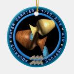 logotipo del zodiaco del acuario del valxart ornamento para reyes magos