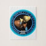 logotipo del zodiaco del acuario del valxart puzzle