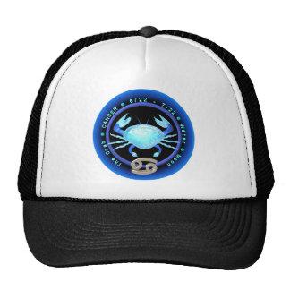 Logotipo del zodiaco del cáncer de Valxart Gorros Bordados