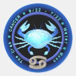 Logotipo del zodiaco del cáncer de Valxart Etiquetas Redondas