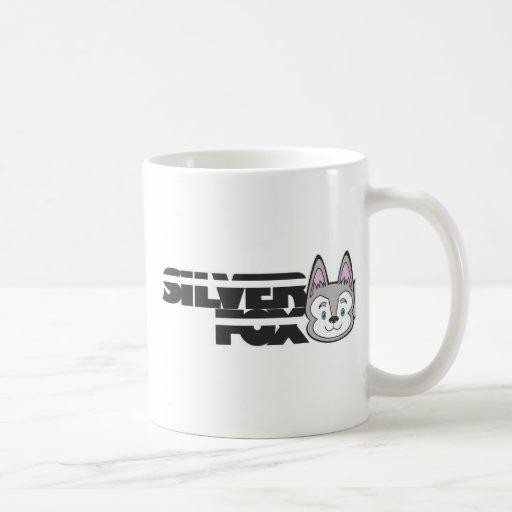 Logotipo del zorro plateado taza