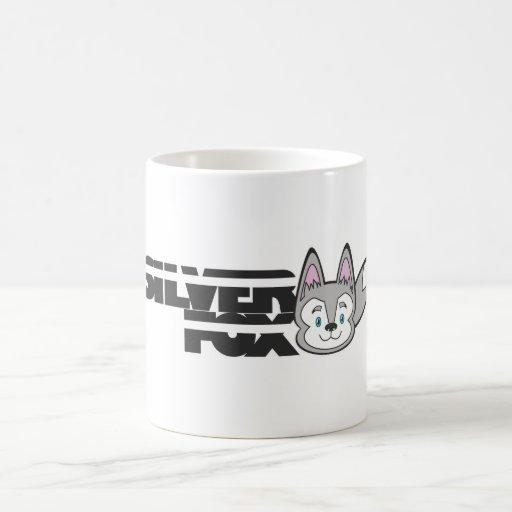 Logotipo del zorro plateado taza de café