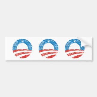 Logotipo descolorado de Obama Pegatina De Parachoque