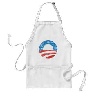 Logotipo descolorado de Obama Delantal