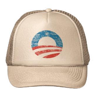 Logotipo descolorado de Obama Gorras