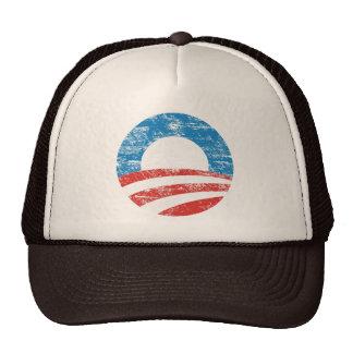Logotipo descolorado de Obama Gorras De Camionero