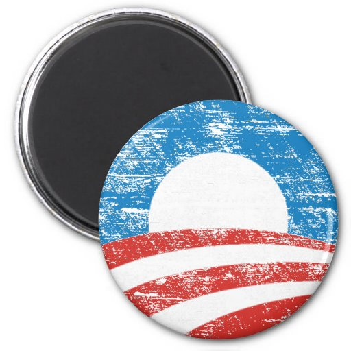 Logotipo descolorado de Obama Iman De Frigorífico