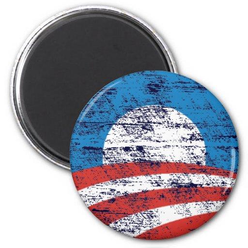Logotipo descolorado de Obama Imán De Frigorifico