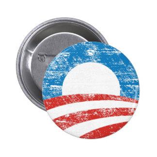 Logotipo descolorado de Obama Pins