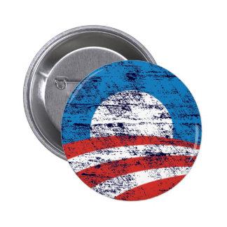 Logotipo descolorado de Obama Pin