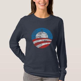 Logotipo descolorado de Obama Playera