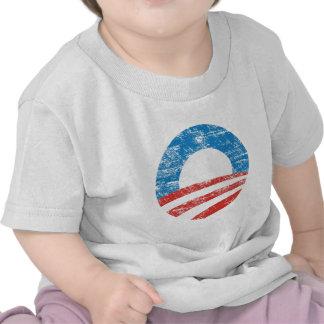 Logotipo descolorado de Obama Camiseta