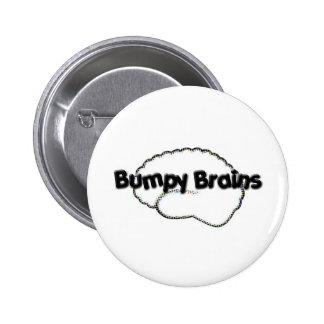 Logotipo desigual de los cerebros pins