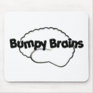 Logotipo desigual de los cerebros tapetes de raton