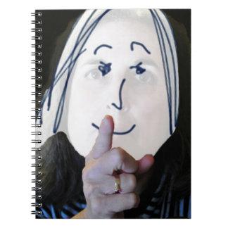 Logotipo diario de la obra clásica del dedo índice libro de apuntes