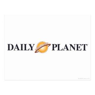 Logotipo diario del planeta tarjetas postales