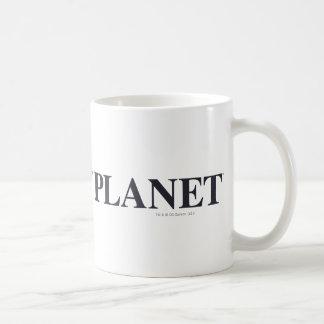 Logotipo diario del planeta taza de café