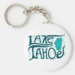 Logotipo dibujado mano del lago Tahoe Llaveros