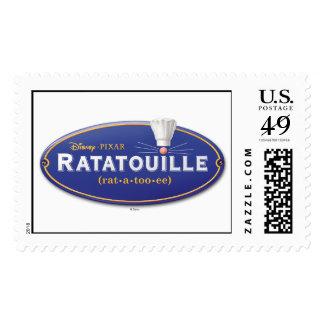 Logotipo Disney de la película de Ratatouille Timbres Postales