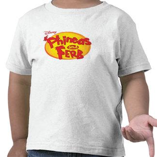 Logotipo Disney de Phineas y de Ferb Camiseta