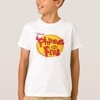 Logotipo Disney de Phineas y de Ferb Playera