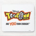 Logotipo Disney de Toontown Alfombrillas De Raton