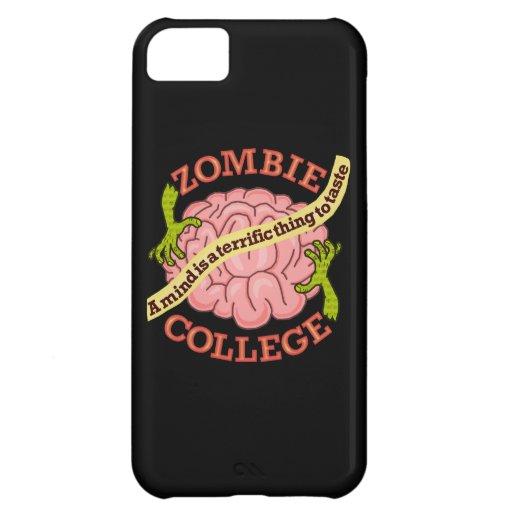 Logotipo divertido de la universidad del zombi