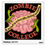 Logotipo divertido de la universidad del zombi vinilo adhesivo