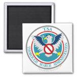 Logotipo divertido de TSA con el dibujo animado Ea Imanes De Nevera