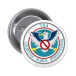 Logotipo divertido de TSA con el dibujo animado Ea Pin