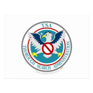 Logotipo divertido de TSA con el dibujo animado Ea Tarjetas Postales