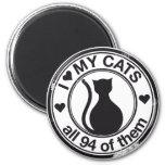 Logotipo divertido del gato imán de frigorifico