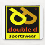 Logotipo doble de la ropa de deportes de D Alfombrilla De Ratones