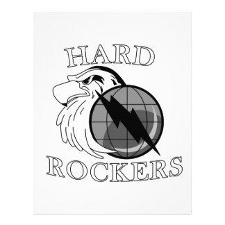 Logotipo duro de los ejes de balancín plantilla de membrete
