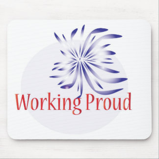 Logotipo duro de trabajo mousepad