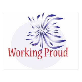 Logotipo duro de trabajo postales